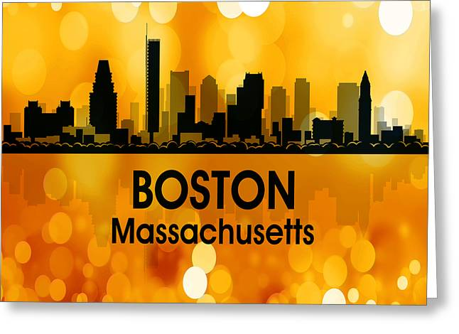 Industrial Icon Greeting Cards - Boston MA 3 Squared Greeting Card by Angelina Vick