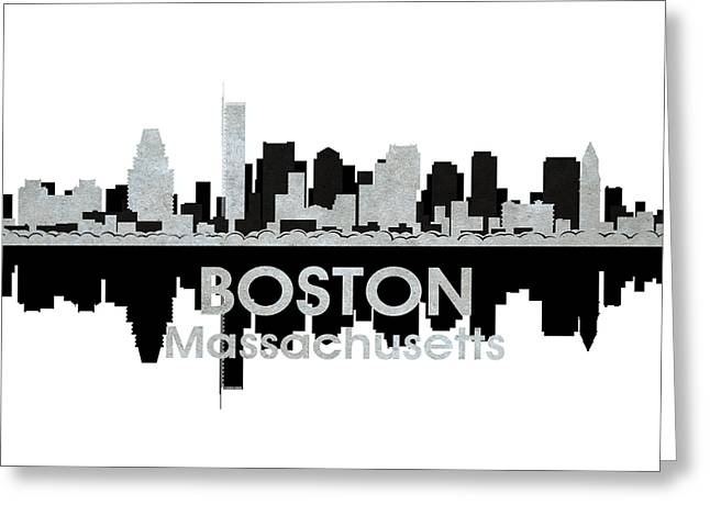 Boston Ma Greeting Cards - Boston MA 4 Greeting Card by Angelina Vick