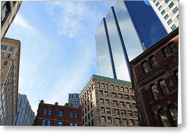 Boston Ma Greeting Cards - Boston MA Architecture 2 Greeting Card by Michael Saunders
