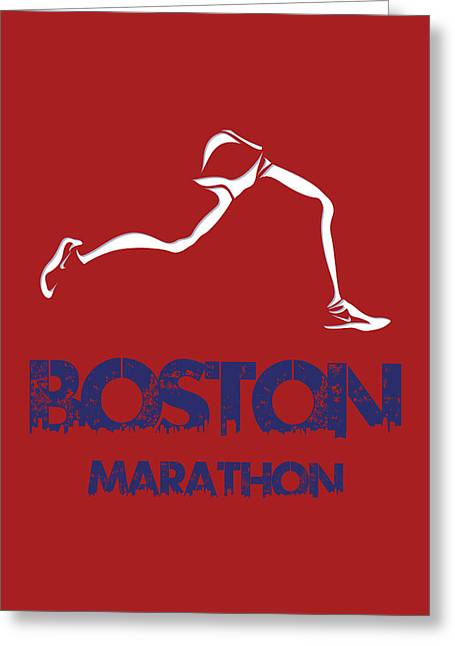 Runner Greeting Cards - Boston Marathon1 Greeting Card by Joe Hamilton