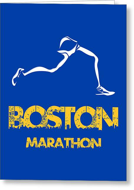 Runner Greeting Cards - Boston Marathon2 Greeting Card by Joe Hamilton