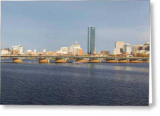 Boston Ma Greeting Cards - Boston Mass Ave Bridge Panorama Greeting Card by Toby McGuire