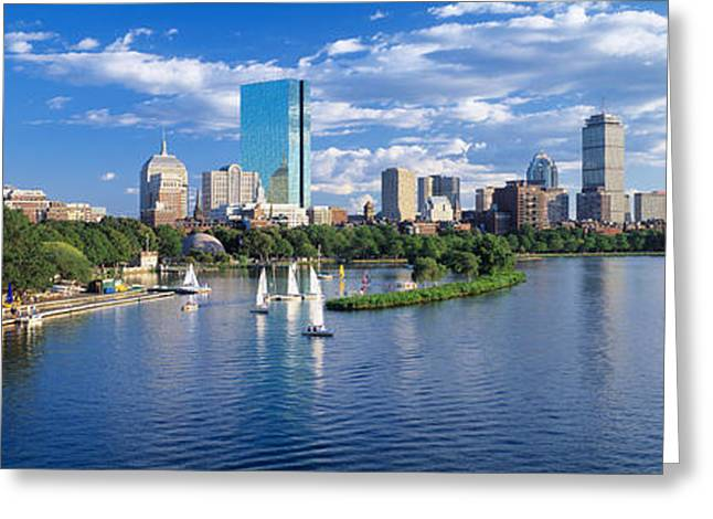 Corporate Business Greeting Cards - Boston, Massachusetts, Usa Greeting Card by Panoramic Images