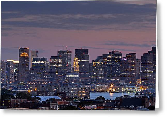 Boston Photos Greeting Cards - Boston Nights Greeting Card by Juergen Roth