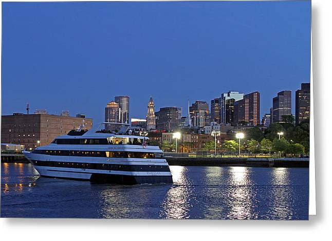 Boston Ma Greeting Cards - Boston Odyssey Cruise Ship Greeting Card by Juergen Roth