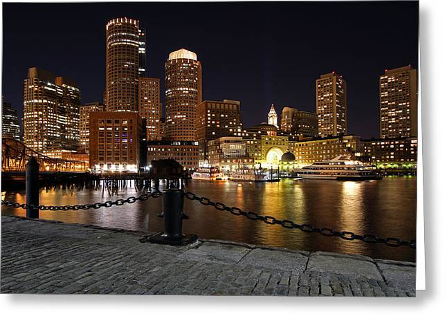 Boston Nights Greeting Cards - Boston Odyssey  Greeting Card by Juergen Roth