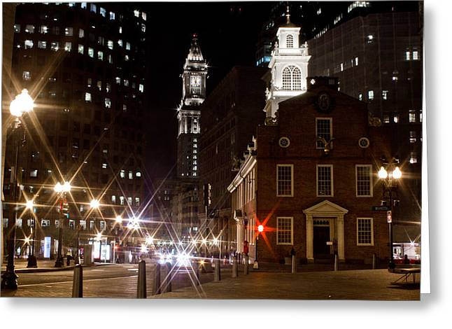 Tea Party Greeting Cards - Boston Old City Hall 2 Greeting Card by John McGraw