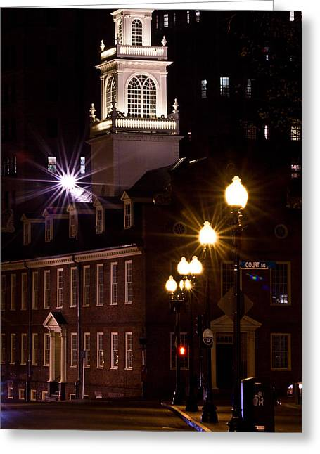 Tea Party Greeting Cards - Boston Old City Hall Greeting Card by John McGraw