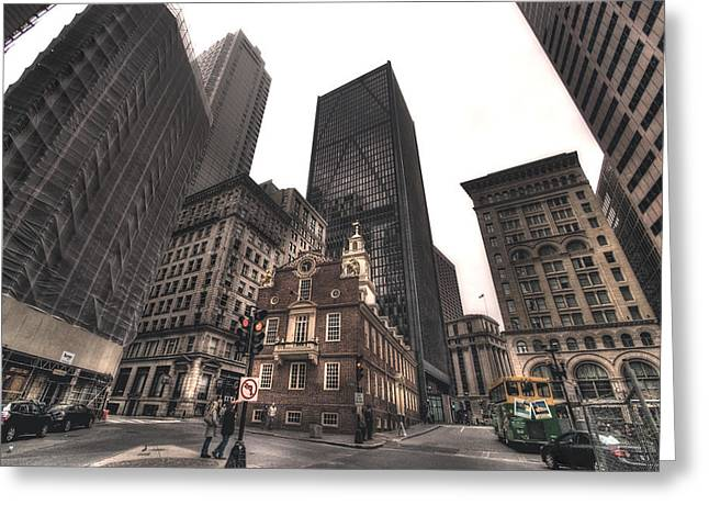 Boston Old State House Greeting Card by Joann Vitali