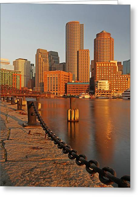 Fan Pier Greeting Cards - Boston One International Place  Greeting Card by Juergen Roth