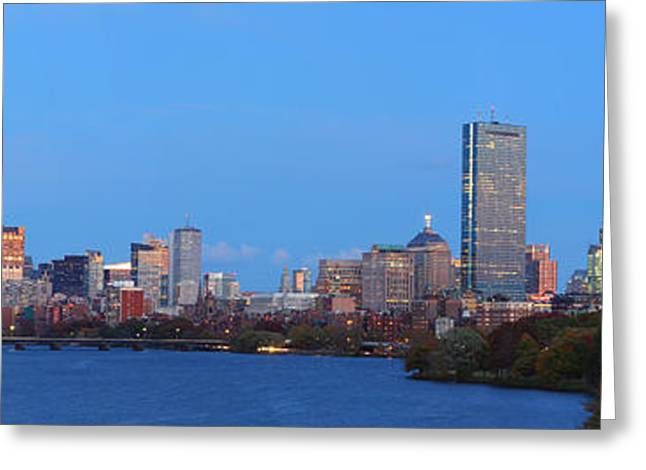 Historic Home Greeting Cards - Boston Panorama Greeting Card by Juergen Roth