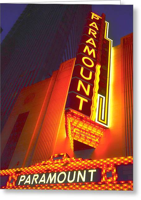 Boston Ma Greeting Cards - Boston Paramount Theater Greeting Card by Toby McGuire