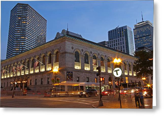 Boston Photos Greeting Cards - Boston Public Library Greeting Card by Juergen Roth