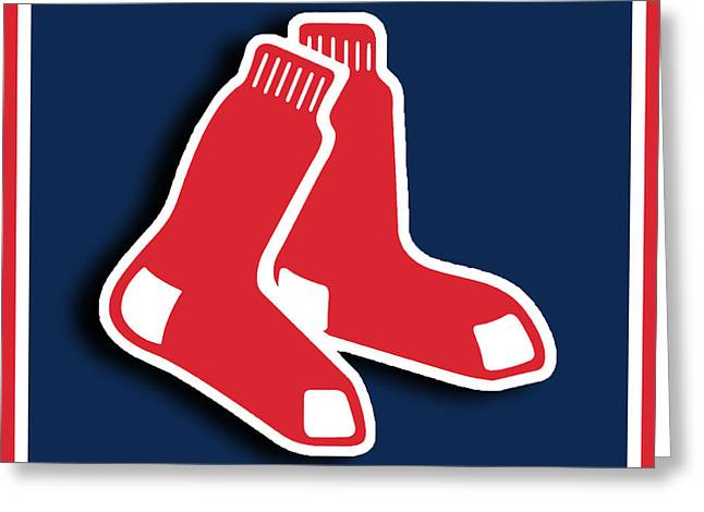 Boston Red Socks Greeting Card by Tony Rubino