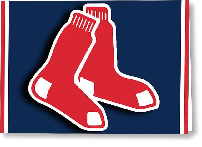 Boston Red Socks Greeting Card by Tony Rubino
