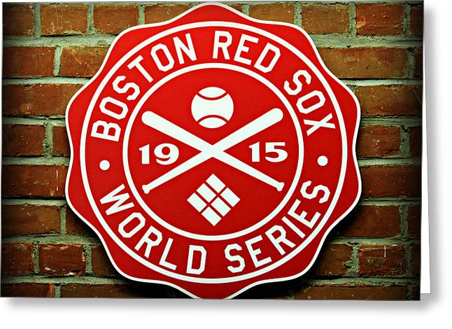 Bosox Greeting Cards - Boston Red Sox 1915 World Champions Greeting Card by Stephen Stookey