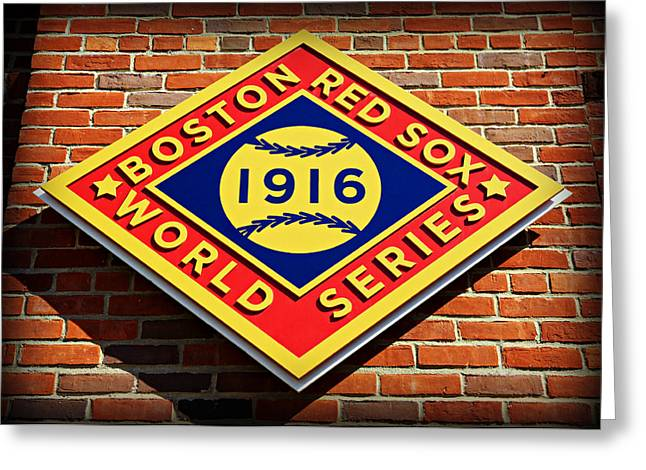 Bosox Greeting Cards - Boston Red Sox 1916 World Champions Greeting Card by Stephen Stookey