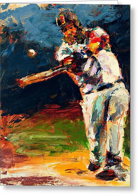 Red Sox Paintings Greeting Cards - Boston Red Sox Beard Mike Napoli Greeting Card by Derek Russell