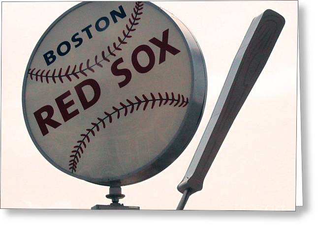 Fenway Park Greeting Cards - Boston Red Sox Greeting Card by Gregory Dyer