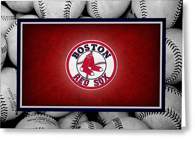 Sox Greeting Cards - Boston Red Sox Greeting Card by Joe Hamilton