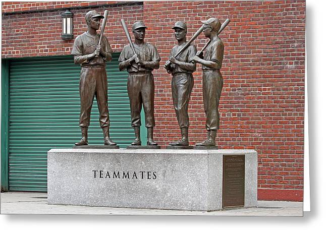 Boston Red Sox Teammates Greeting Card by Juergen Roth