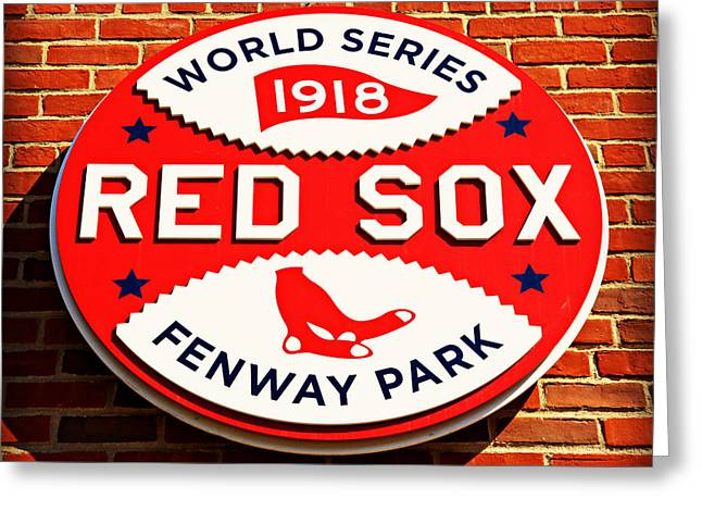 Bosox Greeting Cards - Boston Red Sox World Series Champions 1918 Greeting Card by Stephen Stookey