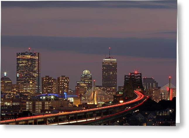Boston Rediscovered Greeting Card by Juergen Roth
