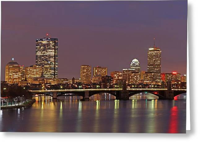 Boston Redline Greeting Card by Juergen Roth