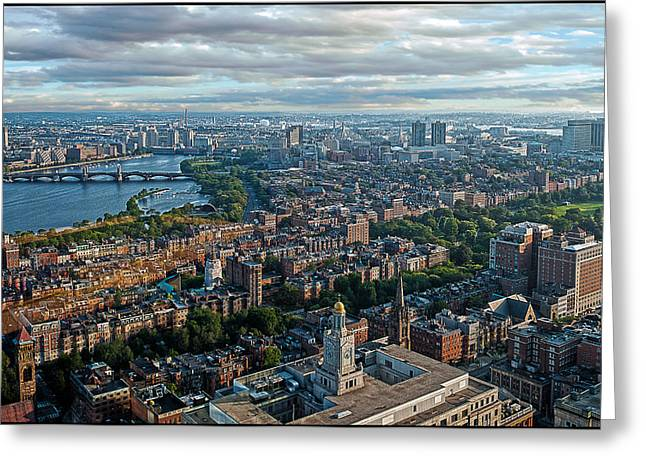 Charles River Greeting Cards - Boston Greeting Card by Rick Mosher