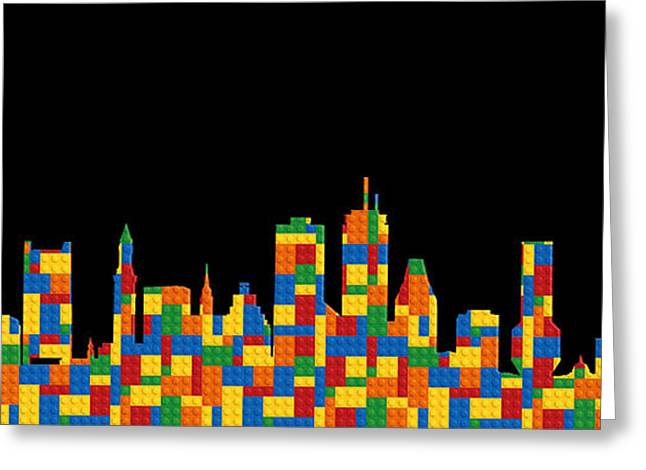 Recently Sold -  - Lego Greeting Cards - Boston Skyline 4 Greeting Card by Andrew Fare