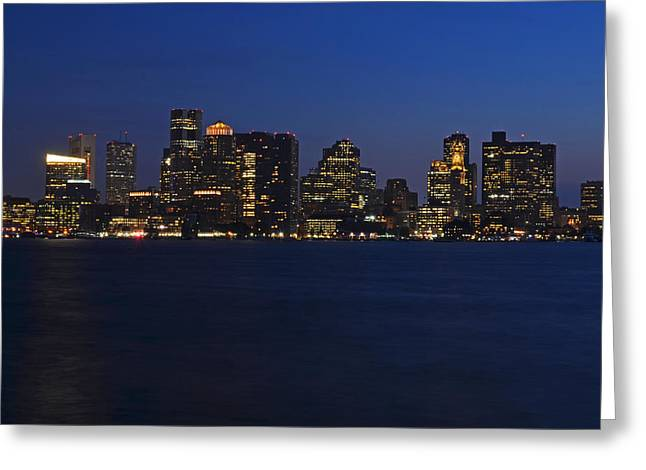 Boston Ma Greeting Cards - Boston Skyline from East Boston Greeting Card by Toby McGuire