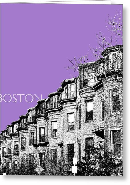 Violet Art Greeting Cards - Boston South End - Violet Greeting Card by DB Artist