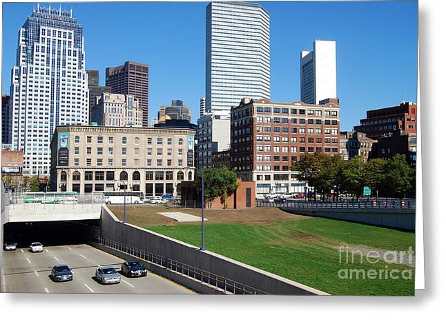 Boston Southeast Expressway Greeting Card by Rosemarie Morelli