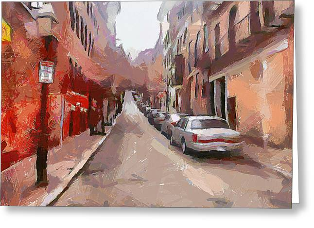 Live Digital Greeting Cards - Boston Streets 1 Greeting Card by Yury Malkov