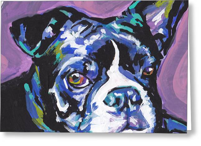 Boston Terrier Greeting Cards - Boston Strong Greeting Card by Lea