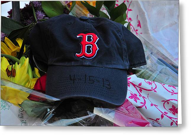 Boston Red Sox Greeting Cards - Boston Strong Greeting Card by Mike Martin