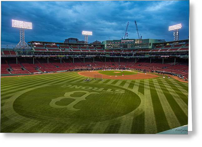 Boston Red Greeting Cards - Boston Strong Greeting Card by Paul Treseler