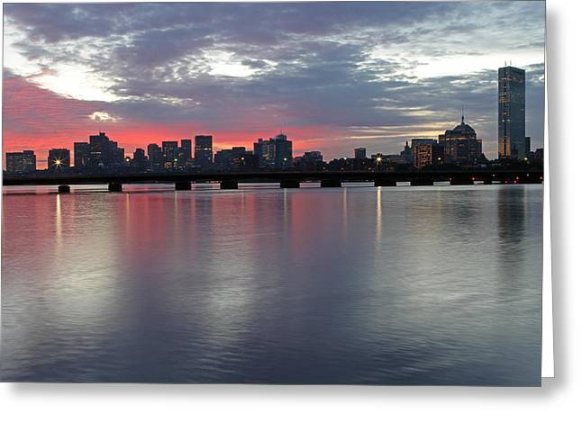 Charles River Greeting Cards - Boston Sunrise Greeting Card by Juergen Roth
