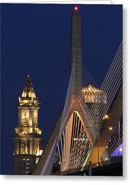 Bunker Hill Greeting Cards - Boston Tall and Strong Greeting Card by Juergen Roth