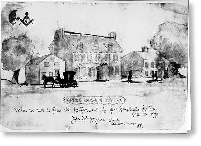 Johnston Greeting Cards - Boston: Tavern, 1773 Greeting Card by Granger