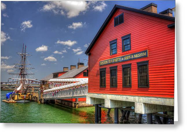 Congress Street Greeting Cards - Boston Tea Party Museum 3 Greeting Card by Joann Vitali