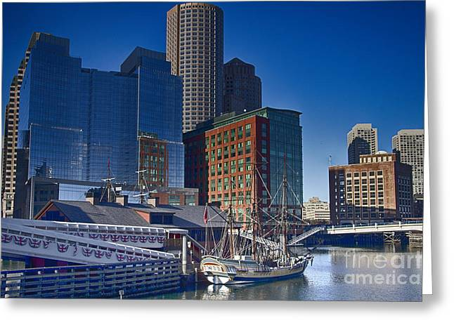 Tea Party Greeting Cards - Boston-Teaparty Greeting Card by Douglas Barnard