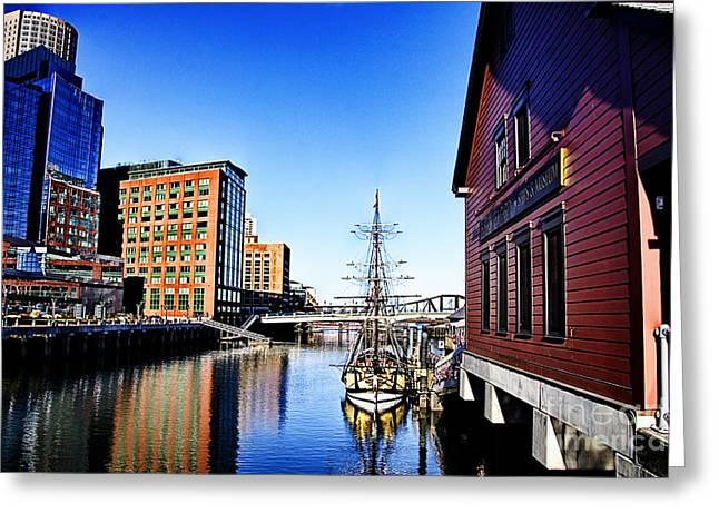 Tea Party Greeting Cards - Boston-Teaparty V2 Greeting Card by Douglas Barnard