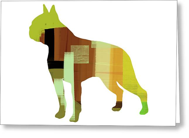 Pet Greeting Cards - Boston Terrier Greeting Card by Naxart Studio