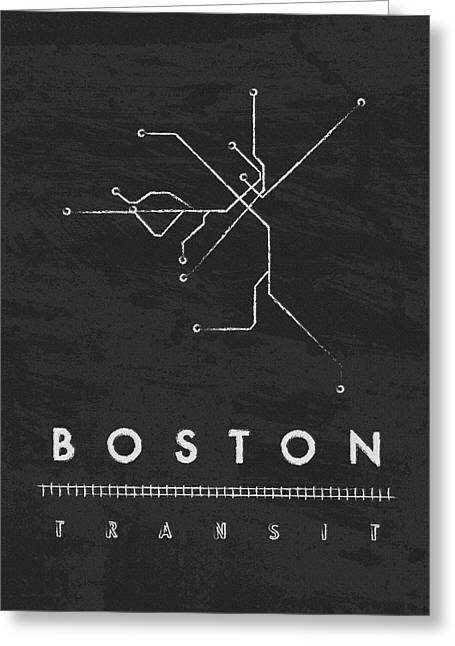 Boston Globe Greeting Cards - Boston Transit 2 Greeting Card by Damon Gray
