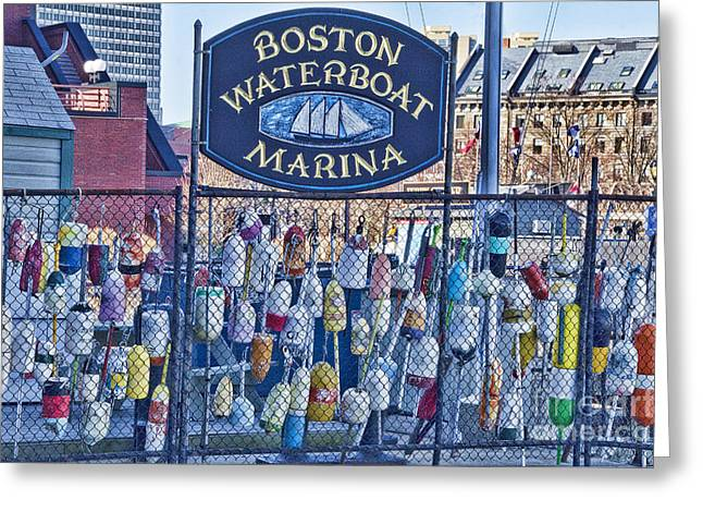 Ocean Floats Greeting Cards - Boston Waterboat Marina Greeting Card by Douglas Barnard
