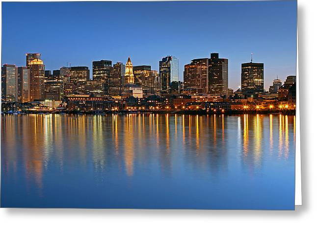 Custom House Tower Greeting Cards - Boston you are my Home Greeting Card by Juergen Roth