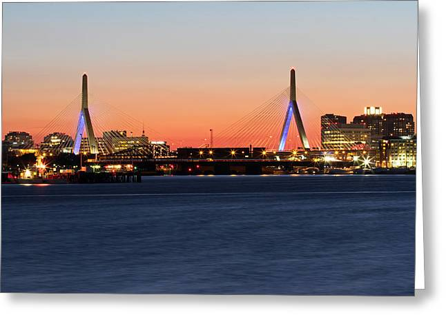Charles River Greeting Cards - Boston Zakim Bridge  Greeting Card by Juergen Roth
