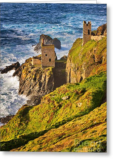 Mining Photos Greeting Cards - Botallack Greeting Card by Louise Heusinkveld