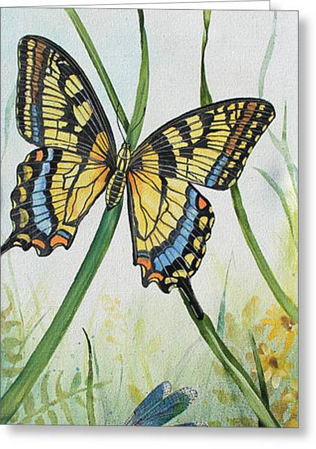 Acrylic Art Greeting Cards - Botanical Beauties-JP252 Greeting Card by Jean Plout